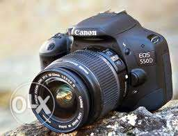 Canon 550D with high quality bag , lens 18-55 , battery and character