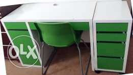 Children Study Desk with Chair and Drawers Chest