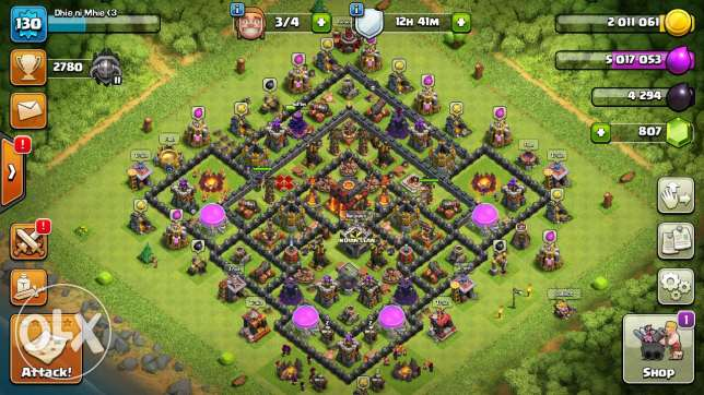 Clash of clan th 10