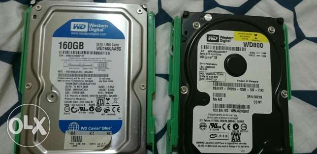 2 Hard Drives Western Digital