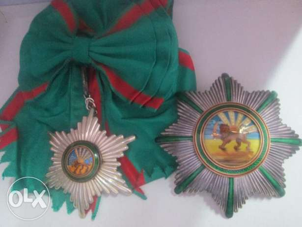 ran Persia Pahlavi Order of Homayoun Exceptional Grand Cross Class Set
