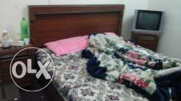 Bed (Marrix free). Diseng table . And dressing cabord