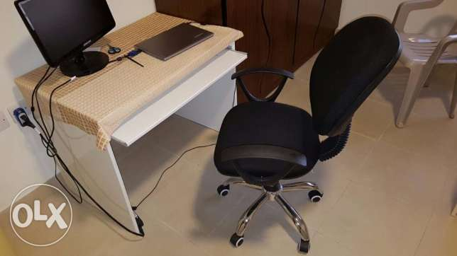 Computer Study Table and Office Chair