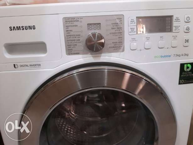 Washing machine with dryer 7.5K Excellent condition_New_traveling الرياض -  2