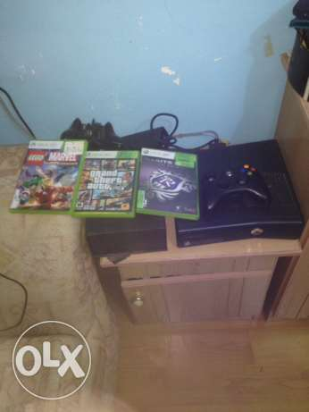 Xbox 360+free games+controller