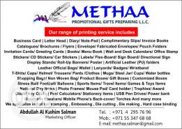 Methaa Promotional Gifts Preparing LLC