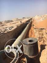 We are subcontractors for trench, backfilling, irrigation and construc