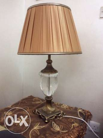 2 luxurious table lamps