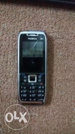 Mobile Nokia E51 with complete accessories