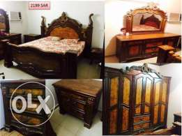 King size Wooden Bed Room set in very good condition