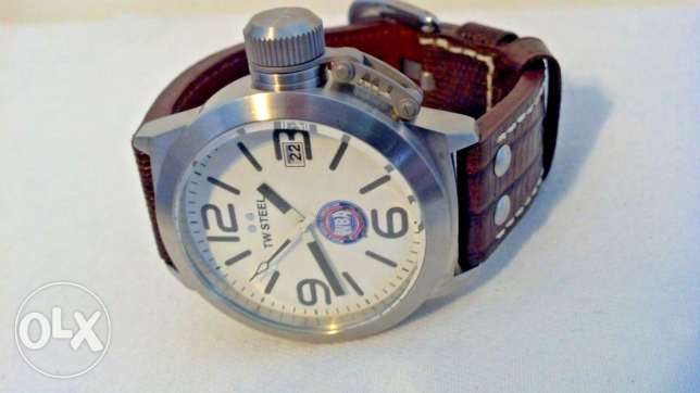 TW Steel brown leather croco strap