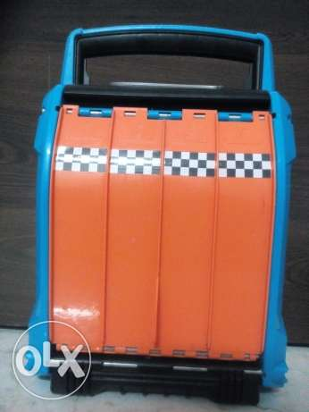 Hot wheels track and car storage