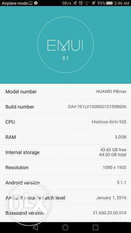 EXCHANGE OR BUY Huawei P8 Max 64 Gb Rom and 3Gb Ram