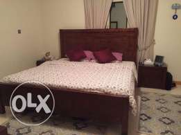 Super king size bed with mattress, topper and 2 side tables