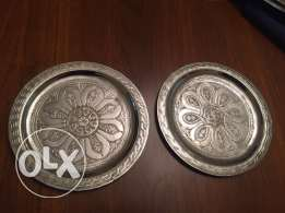 silver hanging plate hand made